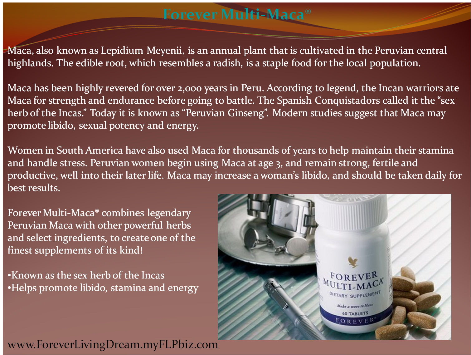 Forever Multi-Maca® | Forever Living Dream