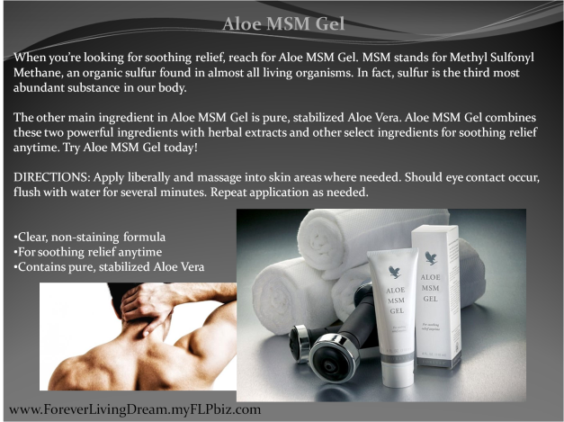 Aloe MSM Gel