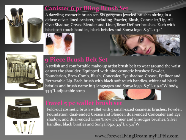 Canister 6 pc Bling Brush Set