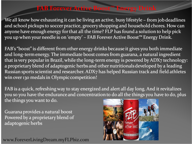 FAB Forever Active Boost™ Energy Drink