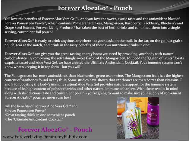 Forever Aloe2Go® - Pouch