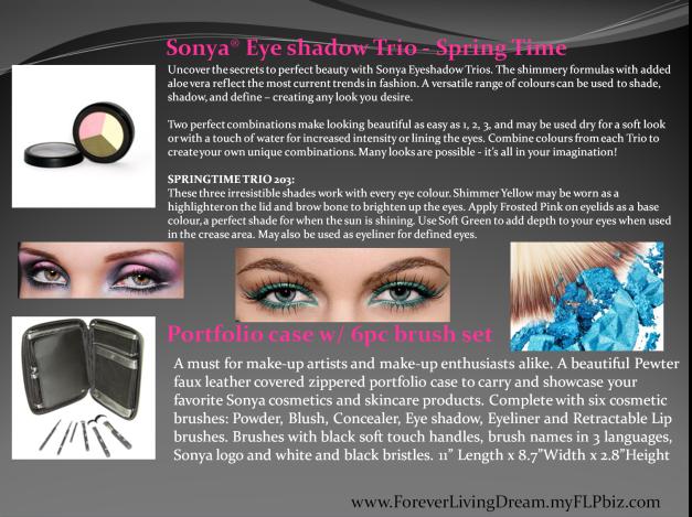 Sonya® Eye shadow Trio - Spring Time