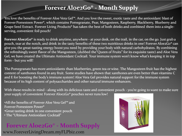 Forever Aloe2Go® - Month Supply
