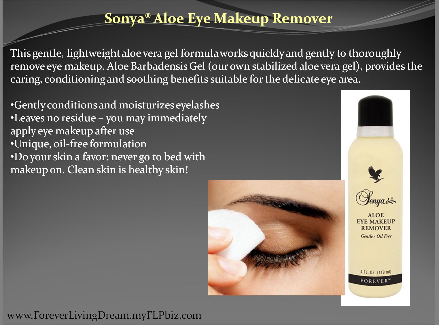 sonya u00ae aloe eye makeup remover