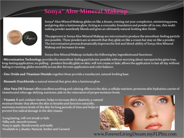 Sonya® Aloe Mineral Makeup
