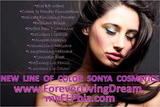 NEW LINE OF COLOR SONYA COSMETICS