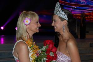 Joanna Miezin with Miss Sonya 2012 after crowning ceremony in Phoenix Arizona