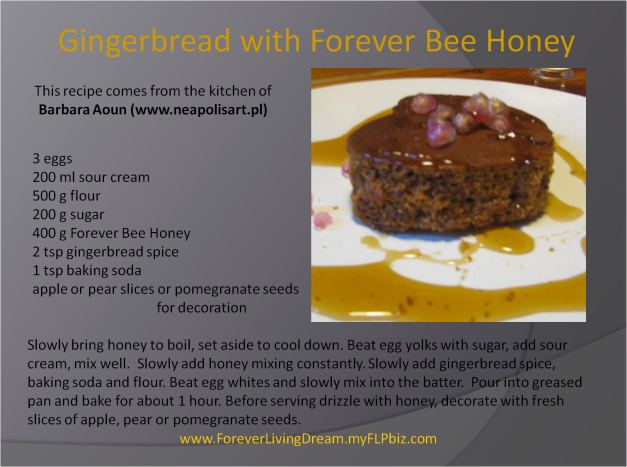 Gingerbread with Forever Bee Honey