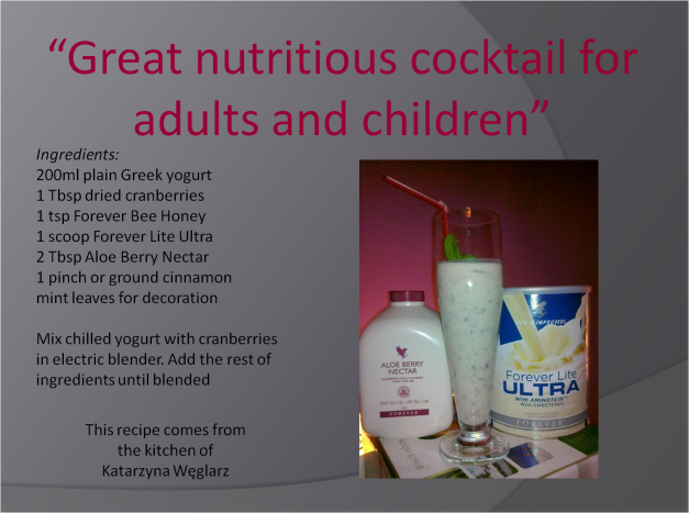 Great nutritious cocktail for adults and children