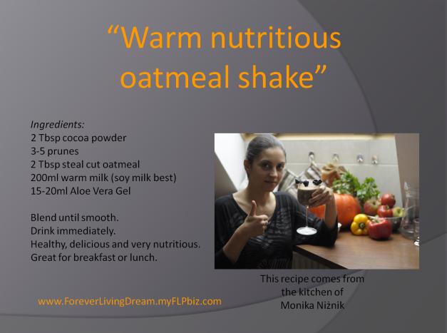 Warm nutritious