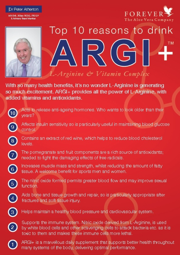 dr. Peter Atherton - 10 reasons to drink ARGI+